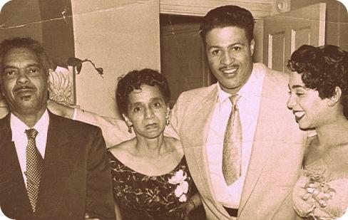 Left to right: Robert H. Hardoen, Margaret W. Hardoen, Ernest Powell, Martha Anne Hardoen Powell